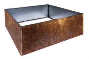 Vierkant 120x120 40 cm Plaatstaal