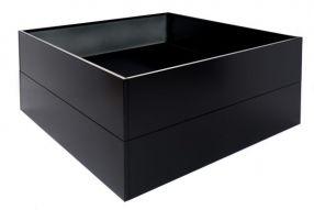 Vierkant 120x120 50 cm Aluminium