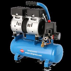 Stille Olievrij Compressor L 6-105 8 bar 0.6 pk 84 l/min 6 l