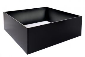 Vierkant 120x120 40 cm Aluminium