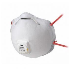 3M stofmasker met ventiel, FFP3, type 8833S, 5 st