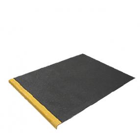 Trapplaten Zwart met gele neus   800 mm x tot 1200 mm x 55 mm