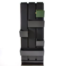 Plantenwand inclusief 5 wandbakken 750x1950 Zwart aluminium
