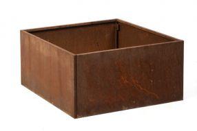 Vierkant 80x80 40 cm Cortenstaal