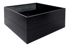 Vierkant 120x120 80 cm Aluminium