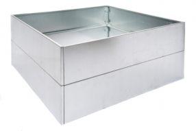Vierkant 120x120 80 cm Gegalvaniseerd